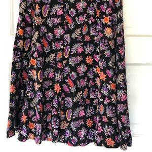Diane von Furstenberg floral silk skirt